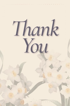 Editable spring template with thank you text