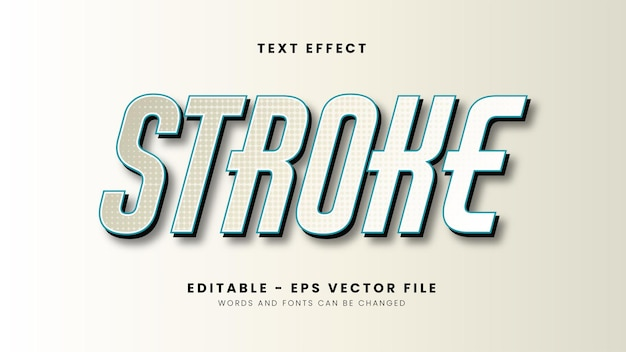 Editable stroke text effect