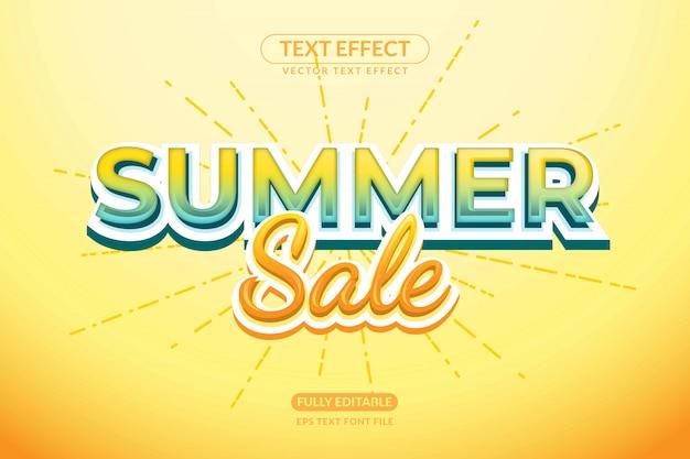 Редактируемый текстовый эффект скидки летней распродажи