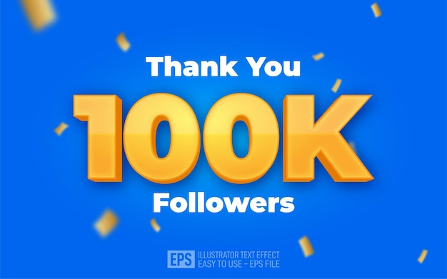 Editable text 100k social media network followers and connections