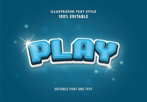 Редактируемый текст об игре синего цвета с блестками.
