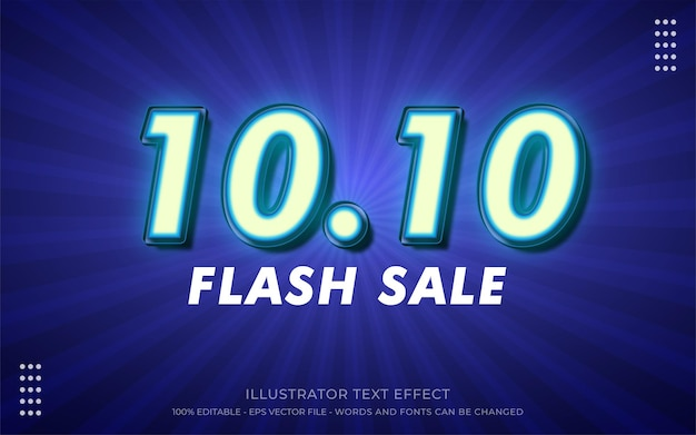 Editable text effect, 10.10 style illustrations