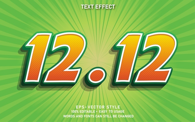 Editable text effect 12.12 sale