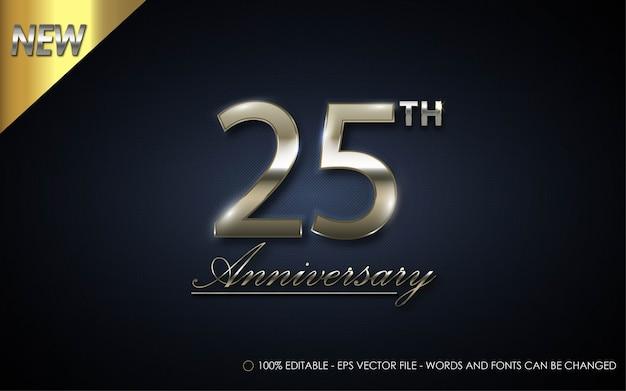 편집 가능한 텍스트 효과, 25 주년 스타일 일러스트레이션