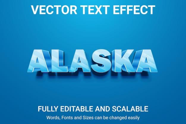 Редактируемый текстовый эффект - стиль текста alaska