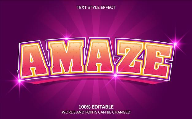 Editable text effect amaze text style