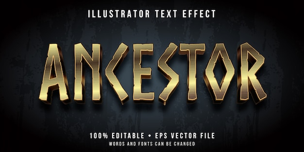 Editable text effect - ancestral style