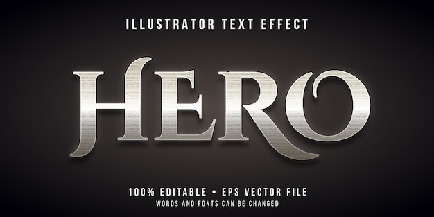 Editable text effect - ancient hero style