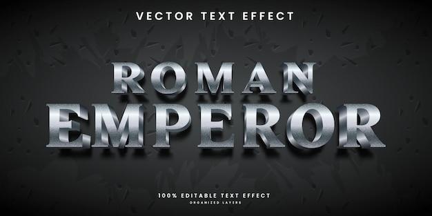 Editable text effect in ancient roman emperor style premium vector