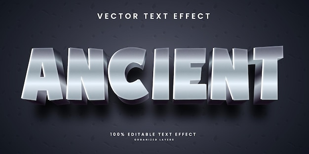 Editable text effect in ancient style premium vector