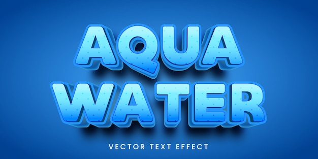 Editable text effect in aqua water style