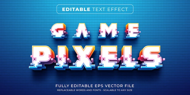 Editable text effect in arcade game pixel style