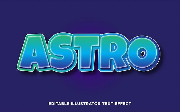 Редактируемый текстовый эффект - astro cartoon text style