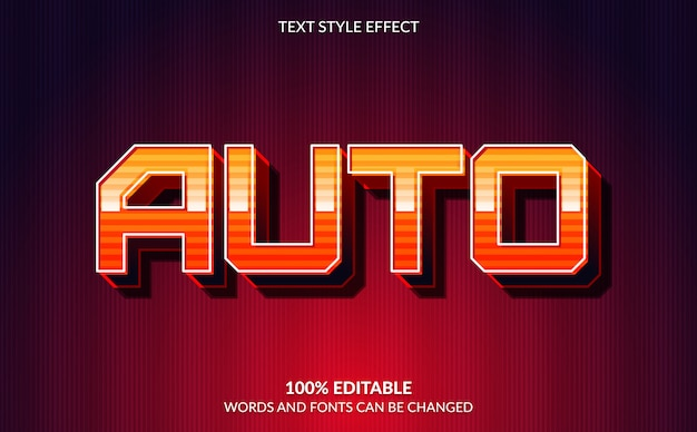 Editable text effect, auto racing text style