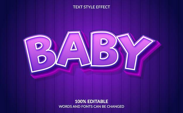 Редактируемый текстовый эффект, стиль детского текста