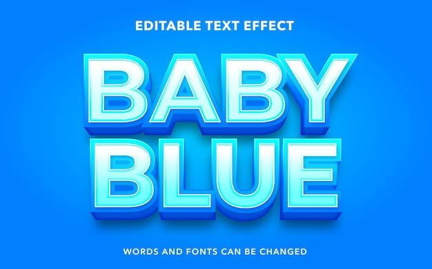 Editable text effect for babyblue