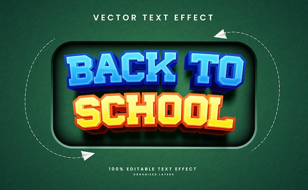 Editable text effect in back to school style premium vector