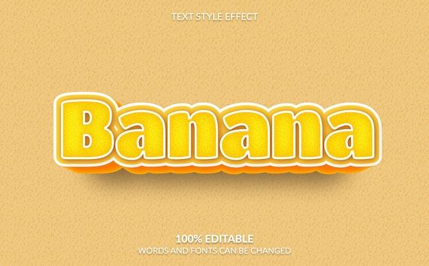 편집 가능한 텍스트 효과 바나나 텍스트 스타일