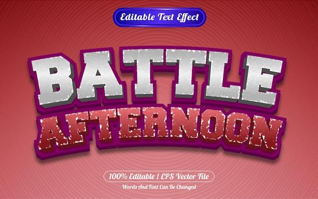 Редактируемый текстовый эффект битвы после обеда в стиле шаблона