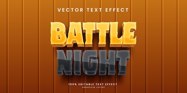 Editable text effect in battle night style premium vector