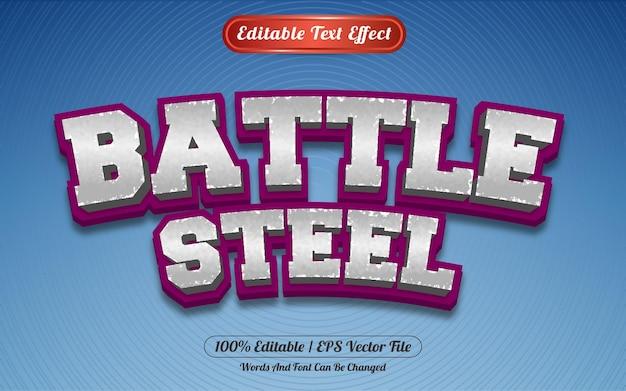 Редактируемый текстовый эффект в стиле боевого стального шаблона