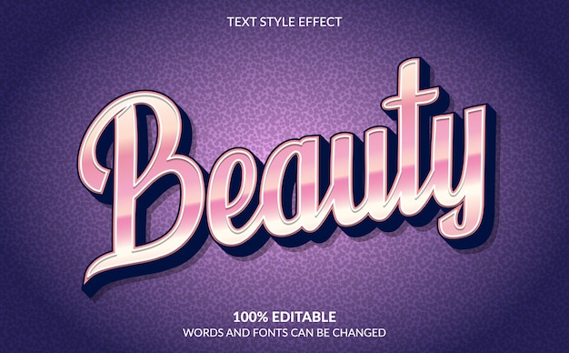 Editable text effect, beauty text style
