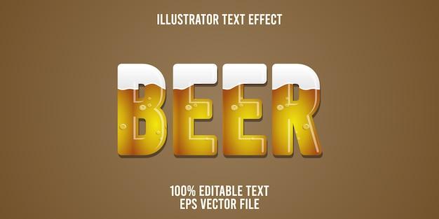 편집 가능한 텍스트 효과 맥주 스타일