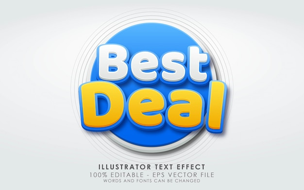 Editable text effect, best deal style