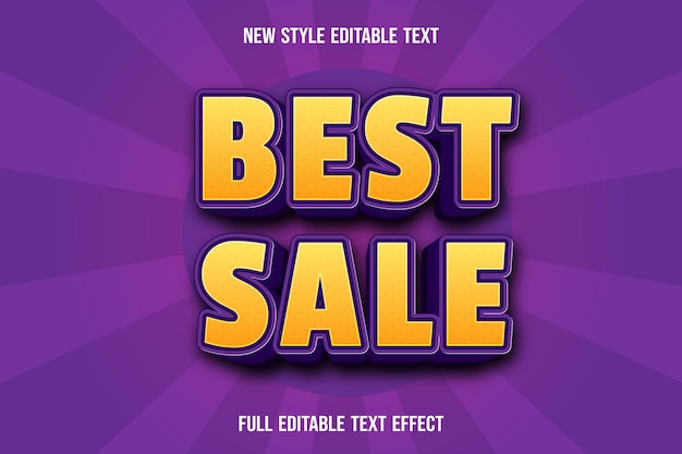 Editable text effect best sale color yellow and purple