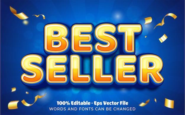 Editable text effect, best seller style illustrations