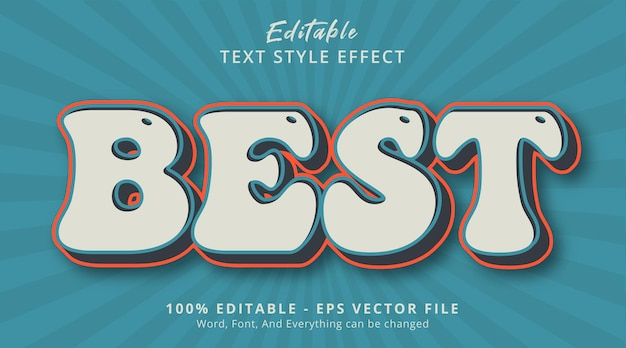 Editable text effect, best text on vintage color style effect