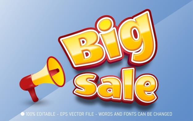 Editable text effect, big sale style illustrations
