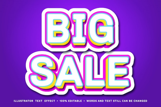 Editable text effect - big sale text style