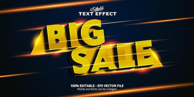Редактируемый текстовый эффект, текст большой распродажи