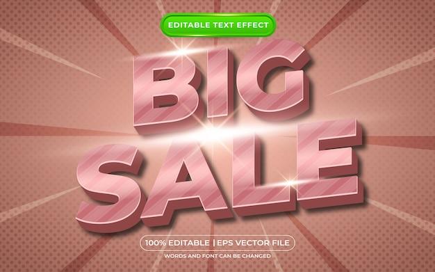 편집 가능한 텍스트 효과 큰 판매