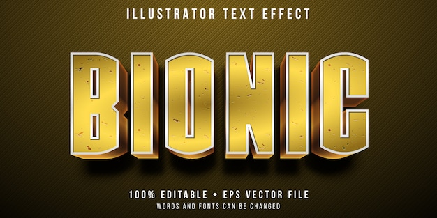 Editable text effect - bionic human style
