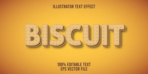 Редактируемый текстовый эффект biscuit style