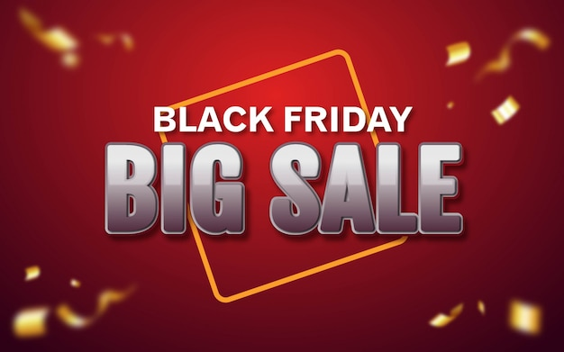 Editable text effect, black friday big sale style illustrations