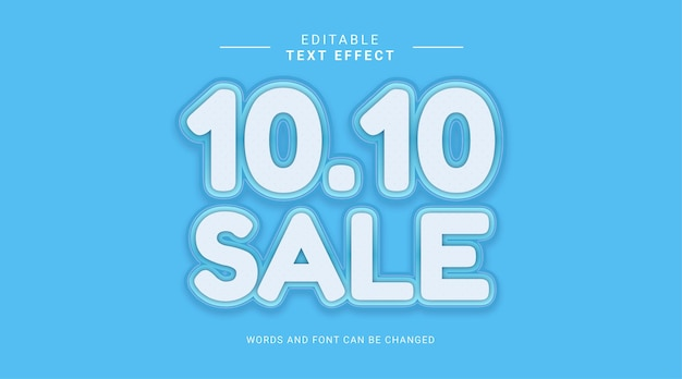 Editable text effect black friday sale bold style fun color
