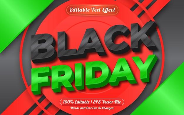 편집 가능한 텍스트 효과 검은 금요일 템플릿 스타일