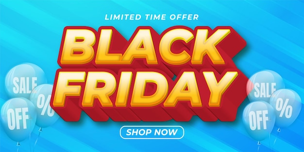 Editable text effect - black friday text style suitable for promotion sale