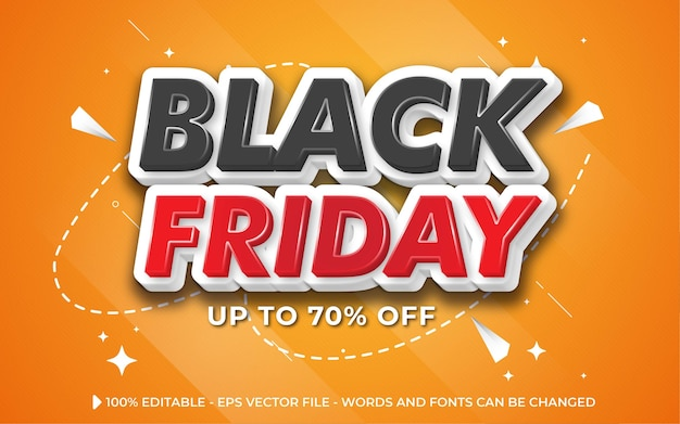 Editable text effect, black friday