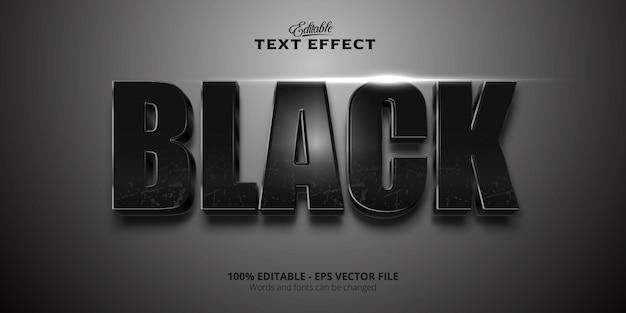 Редактируемый текстовый эффект, черный текст
