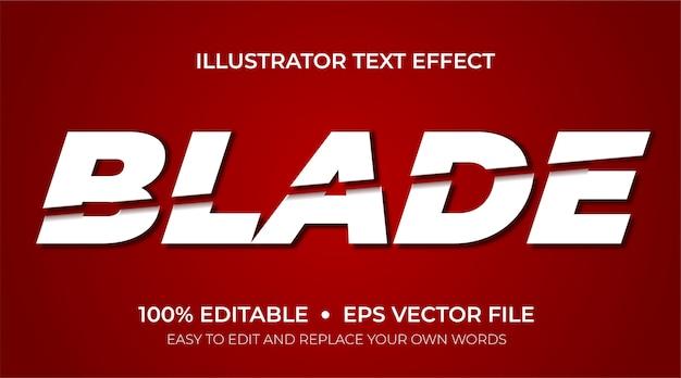 편집 가능한 텍스트 효과-블레이드 슬라이스 텍스트 효과