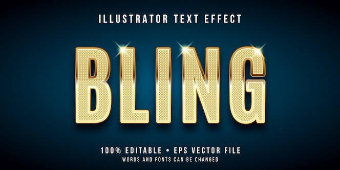 Editable text effect - bling style