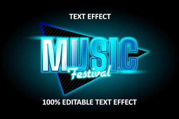 Editable text effect blue cyan light