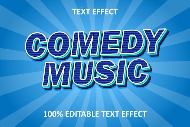 Editable text effect blue cyan retro