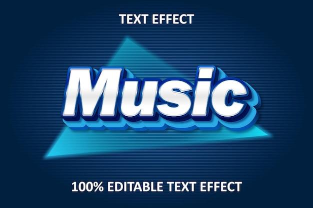 Editable text effect blue full Premium Vector