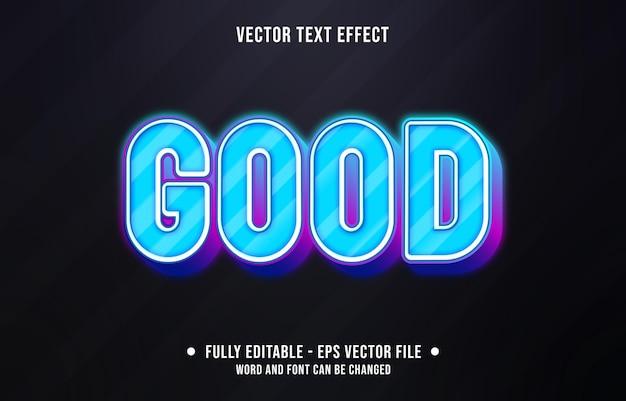 편집 가능한 텍스트 효과-블루 네온 그라디언트 색상 스타일
