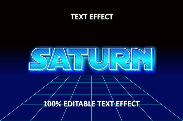 Редактируемый текстовый эффект синий неон